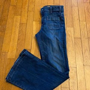 Pilcro and the letterpress flare jeans
